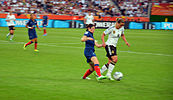 A match between France and Germany during the 2011 World Cup