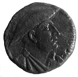 Face of King Gentius on Ancient Illyrian coin.jpg