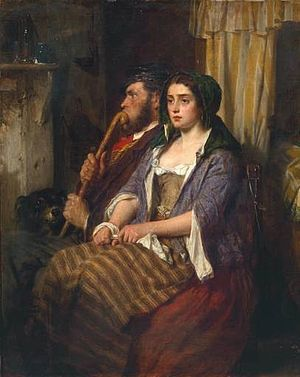Thomas Faed - Faults on Both Sides (1861) Tate Gallery.
