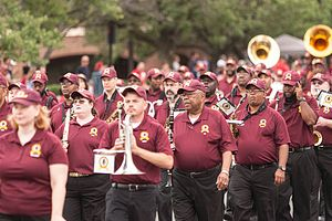 Washington Redskins Marching Band - Washington Redskins Marching Band at 4th of July parade in Fairfax, Virginia
