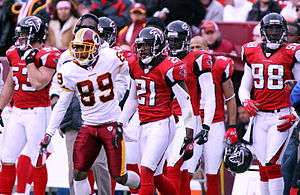 2006 Atlanta Falcons season - Falcons players at Washington on December 3