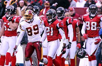 2006 Atlanta Falcons season - Falcons players at Washington on December 3