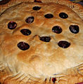 Fall begins - blueberry pie, September 2005.jpg