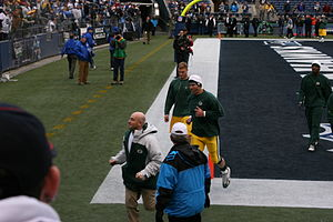 2006 Green Bay Packers season - Image: Favre at Seahawks Nov 27 2006