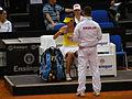 Fed Cup 2013 Germany vs Serbia - Side change Bartel vs Ivanovic and serbian box 03.jpg
