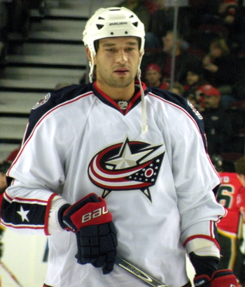 English: Columbus Blue Jackets defenceman Fedo...