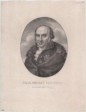Feliks Łubieński - 'Count Felix Lubieński'. Lithograph by Józef Sonntag