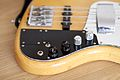 Fender Marcus Miller Jazz Bass (Japan) autographed by Marcus Miller - controls from left.jpg