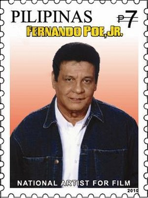 Fernando Poe Jr. - Image of Fernando Poe Jr. in a stamp issued in 2010