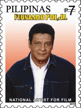 Fernando Poe Jr. - Poe in a 2010 postage stamp