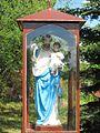 Figurka przykościelna Patrona Parafii - św. Józefa Oblubieńca.JPG