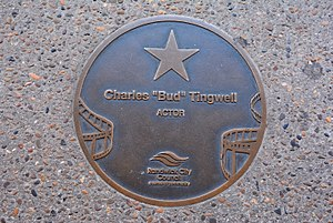 Bud Tingwell - Tingwell's plaque at the Australian Film Walk of Fame, The Ritz Cinema, Randwick, Sydney