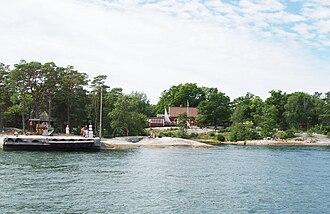 Finnhamn - The main port of Finnhamn.