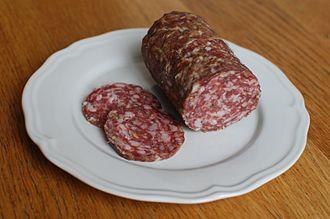 Salami - Image: Finocchiona from Tuscany