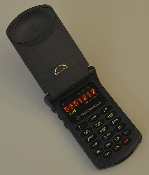 File:First Generation Motorola StarTAC cellular phone.jpg