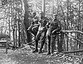 First World War, woods, tableau, men, uniform, railing Fortepan 5338.jpg