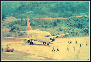 Lengpui Airport - First trial flight for Lengpui Airport