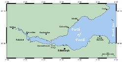 Carte du Firth of Forth.