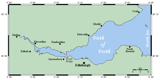 Isle of May - The Isle of May can be seen on this map, off Crail