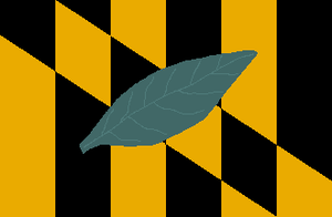 Chesapeake Beach, Maryland - Image: Flag of Calvert County, Maryland
