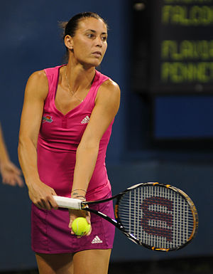 2015 WTA Tour - Image: Flavia Pennetta at the 2010 US Open 01