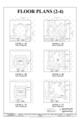 Floor Plans (2-4) - Marshall Space Flight Center, Saturn V Dynamic Test Facility, East Test Area, Huntsville, Madison County, AL HAER ALA,45-HUVI.V,7C- (sheet 4 of 20).png