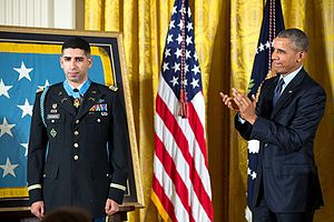 Florent Groberg - Florent Groberg received the Medal of Honor on November 12, 2015.