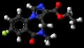 Flumazenil molecule ball.png