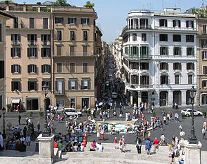 Fontana della Barcaccia - Fontana della Barcaccia, seen from the top of the Spanish Steps.