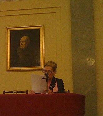 Zora Mintalová – Zubercová - Dr. Zora Mintalova Zubercova at the International culinary heritage conference at the Polish Academy of Sciences in Warsaw