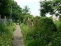 Footpath between railway line and Longbridge Road - geograph.org.uk - 863473.jpg