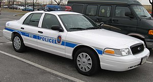Prince George's County, Maryland - A marked Ford Crown Victoria Police Interceptor of the Prince George's County Police Department in February 2007.