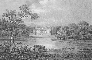 Francis Burdett (1743) - Foremarke Hall drawn by G. Shepherd, engraved by W. Angus. 1805