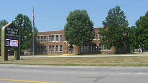 Lakeville, Indiana - The former Lakeville High School is listed on the National Register of Historic Places