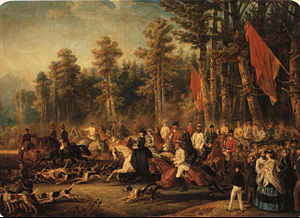 François-Gabriel Lepaulle-Chasse a courre a Ba...