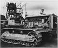 France. Marshall Plan aid to France included this Caterpiller bulldozer shown here arriving in 1949 to help rebuild... - NARA - 541683.tif