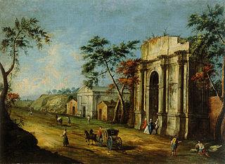 Capriccio avec un arc de triomphe classique