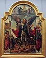 Francesco pagano (attr.), s. michele, storie, santi e crocifissione, 1492 ca., da ss. michele e omobono 01.JPG