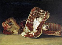 Francisco de Goya y Lucientes - Still-Life - A Butcher's Counter - WGA10068