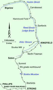 Kingfield Maine Map.Franklin And Megantic Railway Wikipedia