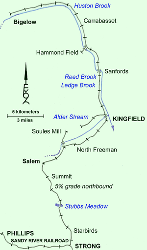 Franklin and Megantic Railway - Map of the Franklin and Megantic Railway circa 1906.
