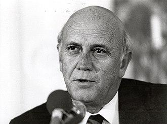 F. W. de Klerk - De Klerk in 1990