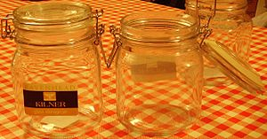 "Glass production - A modern ""French Kilner"" jar"
