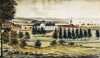 Frogner Park - Frogner Manor and Frogner Park painted in 1815