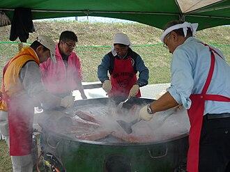 Ikeda, Hokkaido - Frying fish