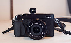 Fujifilm X-E1 with VF-11 Optical Viewfinder.jpg
