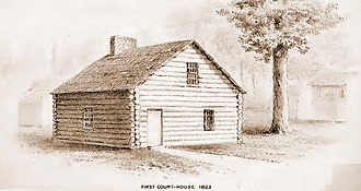 Ossian M. Ross - Image: Fulton County courthouse in 1823