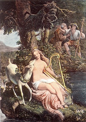 Jakob Götzenberger - Water nymph of the Wildsee, fresco in the Trinkhall at Baden-Baden