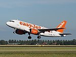 G-EZAJ easyJet Airbus A319-111 cn2742 takeoff from Schiphol (AMS - EHAM), The Netherlands pic1.JPG