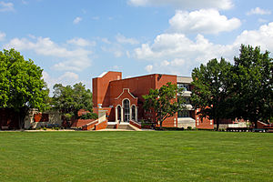 Greenville University - A view of Greenville's library.